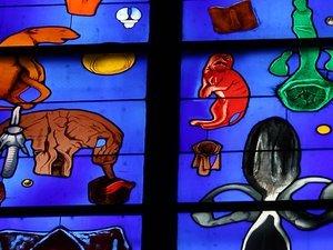 les vitraux de l'artiste suisse Stéphane Belzère
